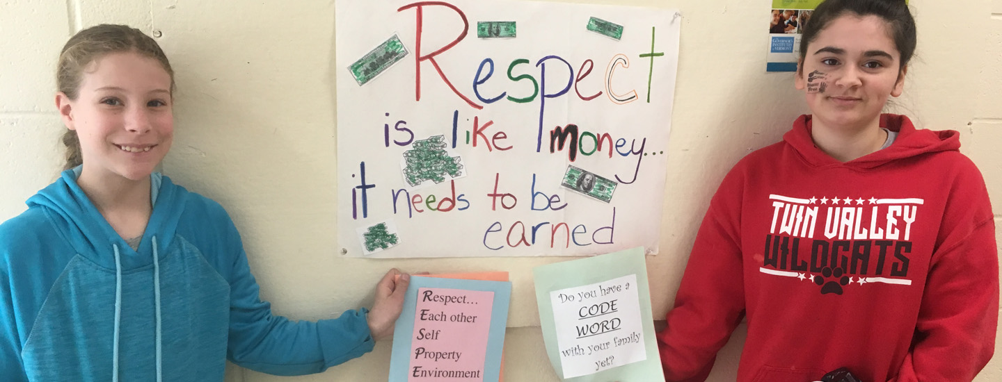 Twin Valley students promote RESPECT.